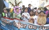 Con Llamativo Pasacalle la Seremi de Salud y el Colegio Adventista Celebraron el Día Mundial sin Tabaco