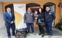 CGE Entrega Generadores a Electrodependientes