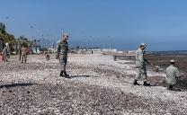 Fuerzas Armadas se Reunieron Para Limpiar Borde Costero en Antofagasta