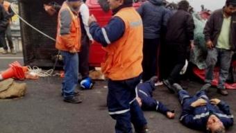 Colisión en Ruta Frente a Cerro Moreno deja 12 heridos