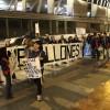 Funcionarios Municipales de Mejillones se Manifestaron en el Debate de Candidatos al Senado