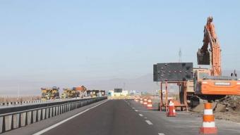 Un 50% de Avance Lleva la Construcción del Paso Peatonal en la Ruta 5 Norte