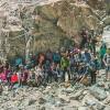 Jóvenes Visitaron Pictografías Prehispánicas en Quebrada El Médano