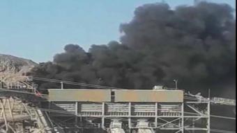 Cuatro Compañías de Bomberos de Antofagasta Trabajaron en Incendio en Faena Minera