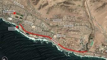 Arreglos en Avenida Ejército Mejorarán Conectividad de la Única Vía de Conexión al Sur de Antofagasta