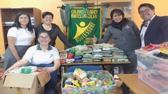 Colegio Entrega 300 Kilos de Alimentos Para Personas de Calle en Calama