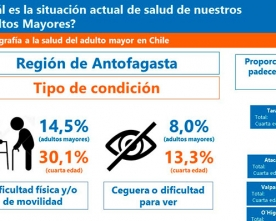 El 25% de Los Adultos Mayores de la Región Tiene Algún Problema de Salud Permanente