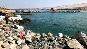 Construcción de Playa y Caleta La Chimba Alcanza el 30% de Avance