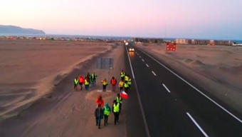 Mejilloninos Marchan a Esta Hora Con Rumbo a Antofagasta