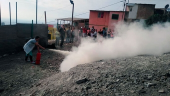 Habitantes de Campamentos de Antofagasta se Capacitan en Emergencias