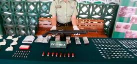 """7 Mil Dosis de Pasta Base y Una Escopeta Fueron Incautadas en el Campamento """"Sol Saliente"""" de Antofagasta"""