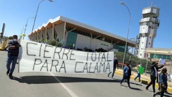 Con Marcha y Bloqueo Del Aeropuerto Alcalde de Calama Exige Cierre Total de la Comuna