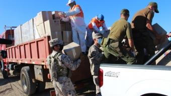 Ejército Apoya la Entrega de Cajas de Alimentos Del Gobierno
