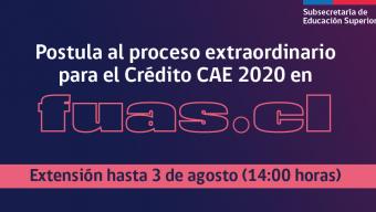 Extienden Postulación al Crédito Con Garantia Estatal (CAE)