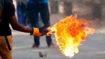 3 Años y 1 Día de Presidio Efectivo en Contra de Sujeto Que Lanzó Molotov Durante Manifestaciones