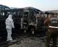 Labocar y SIP de Carabineros Investigan Incendio Que Afecto a Microbuses