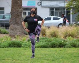 Entrenamiento al Aire Libre, Sin Implementación Deportiva y Cumpliendo Las Normas Sanitarias Deportivas