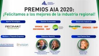 Premios AIA 2020 Reconoció a 7 Empresas de la Región Por su Trayectoria y Gestión Destacada