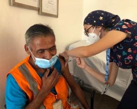 Vacunan Contra el Covid a Personas en Situación de Calle